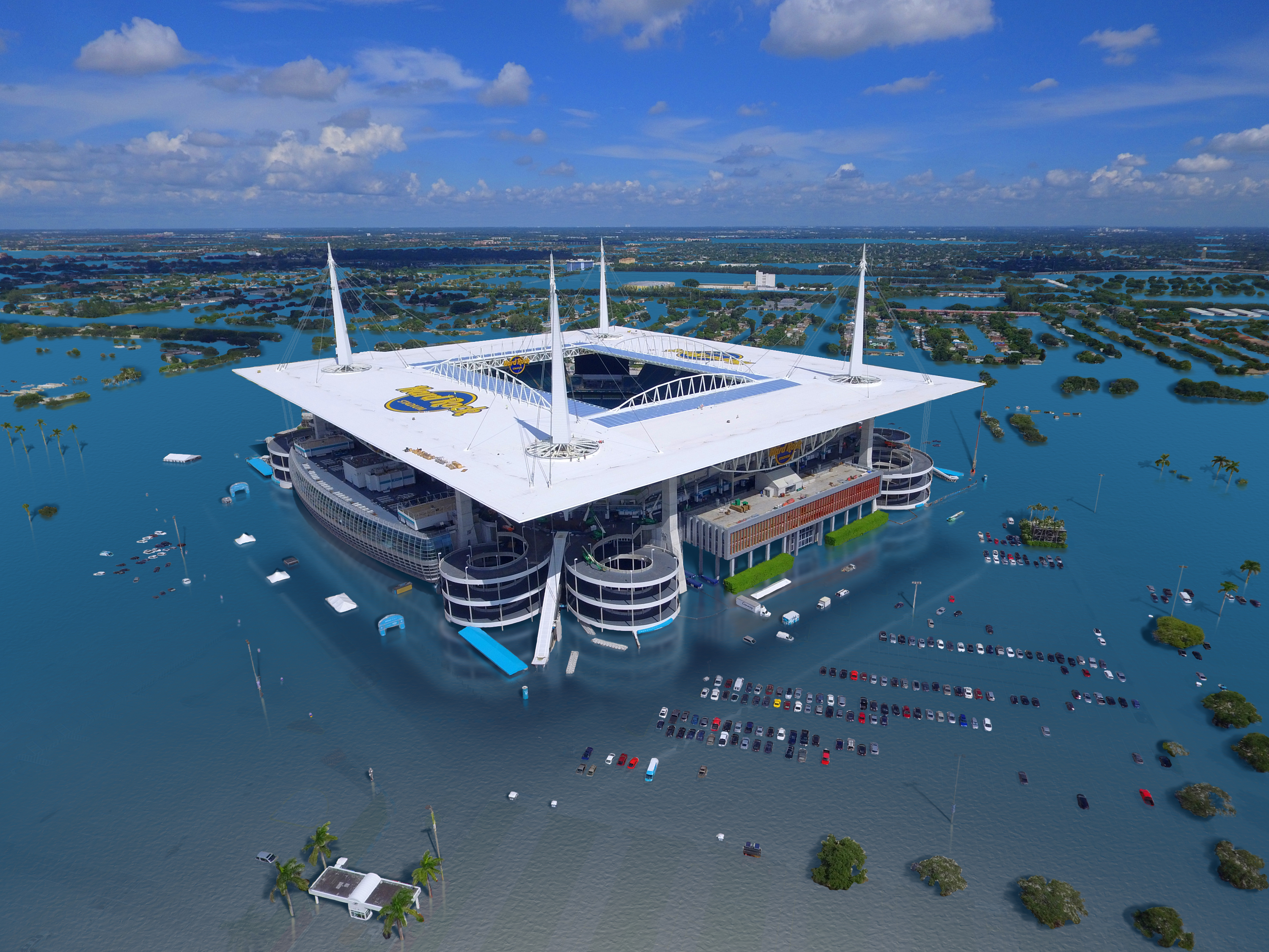 2020 Super Bowl: Sea Level Rise Flood Risk