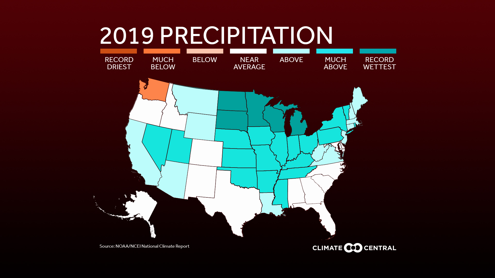 It's official: 2019 was the nation's second wettest year on record