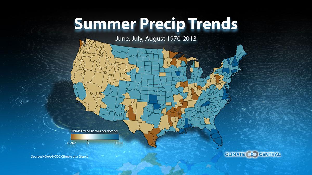 Summer Precipitation Trends